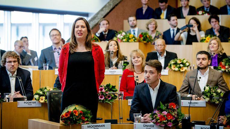 PvdA-lijsttrekker Marjolein Moorman legt haar eed af Beeld anp