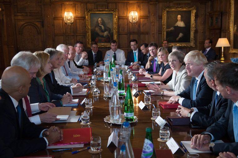 De Britse regering komt vandaag samen in Chequers, het landhuis van de premier. Ook andere jaren vonden hier al regeringsbijeenkomsten plaats (foto: 2016).