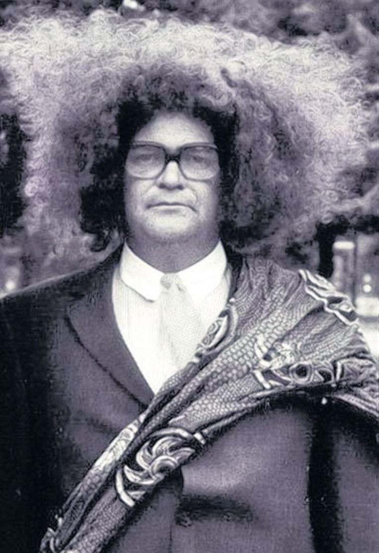Oboema Sesetokoe (Michiel Romeyn), de witte neger uit Jiskefet. Beeld