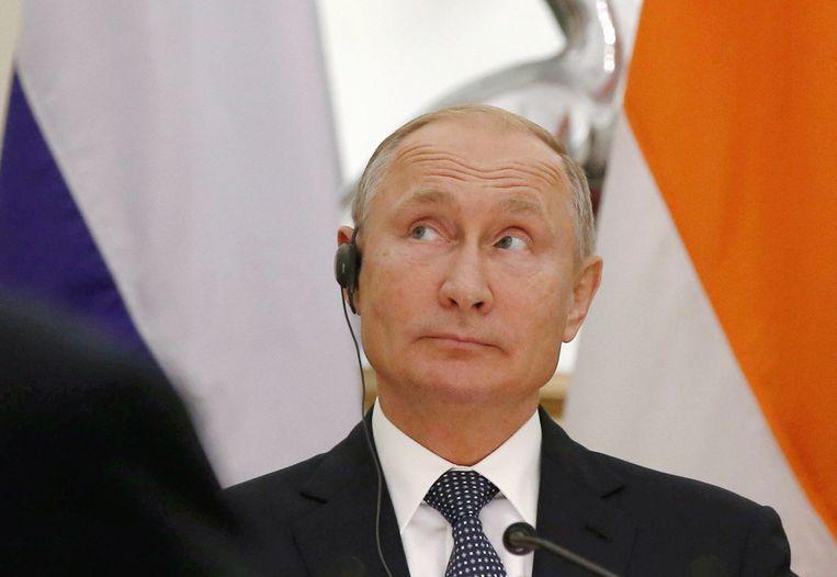 De Russische president Poetin, 5 oktober 2018. Beeld Reuters