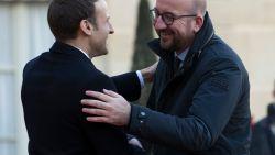 Michel promoot 'groene obligatie' in de Macron-show