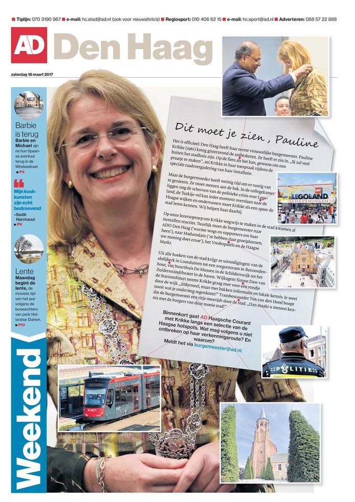 De voorpagina van 18 maart. Waar moest Pauline volgens jullie naartoe? Klik op de afbeelding om een grotere versie te zien.