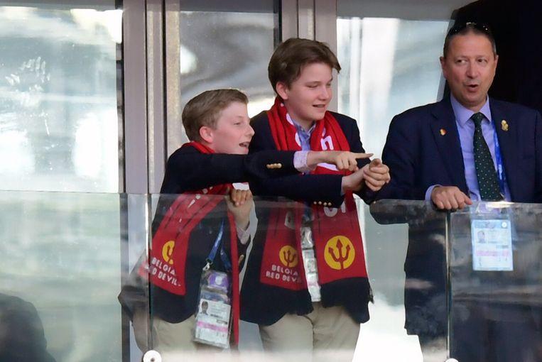 Prinsen Emmanuel en Gabriel amuseerden zich duidelijk in het Spartak Stadium.