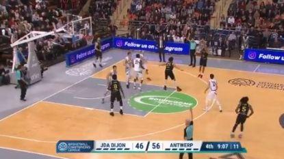 VIDEO. Antwerp Giants wint opnieuw in Champions League: 61-80 bij Dijon