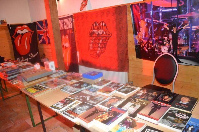 De Rolling Stones-verkoopstand.