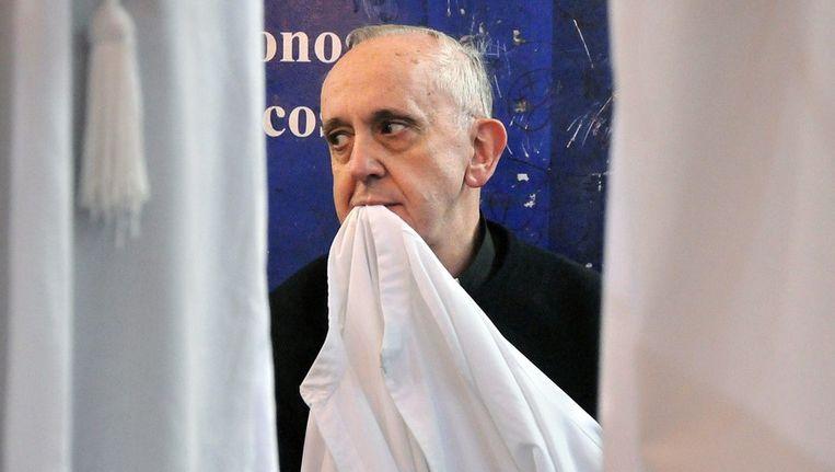 Ongedateerde foto van kardinaal Jorge Mario Bergoglio die gisteren tot paus werd gekozen Beeld ANP