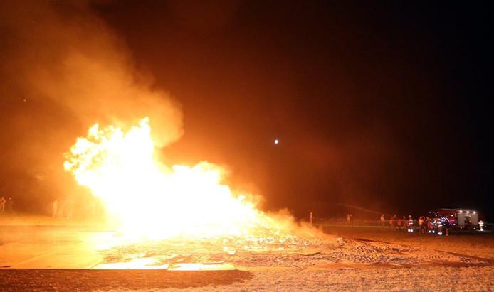 Palletverbranding in Lith.