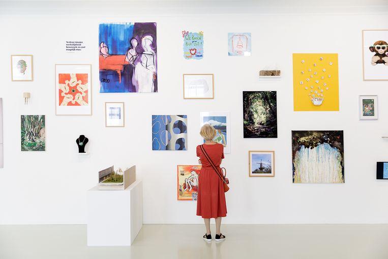 De expositie Troostkunst uit Schiedam, die t/m 4/10 is te zien in Stedelijk Museum Schiedam. Beeld Aad Hoogendoorn
