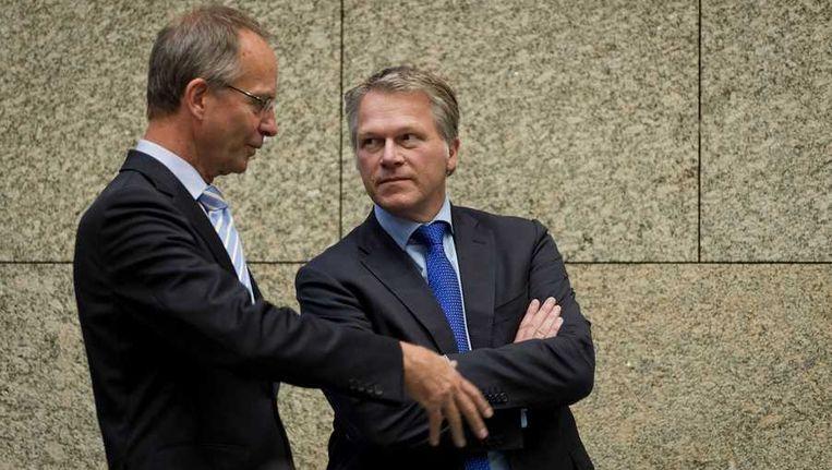 Henk Kamp en Wouter Bos Beeld anp