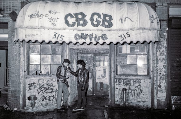 Concertzaal CBGB in 1983 Beeld Getty Images