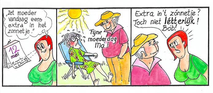 Strip van Riny Molsbeck uit Budel.