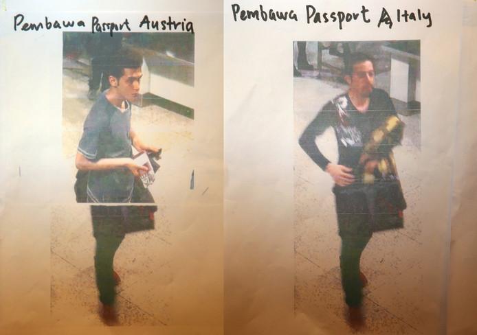 Les photos des détenteurs de faux passeports diffusées plus tôt par la police malaisienne