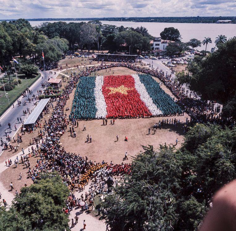 Feest in Paramaribo bij de onafhankelijkheid van Suriname in 1975. Beeld Nationaal Fotopersbureau
