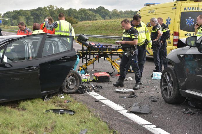 Zwaar ongeval op de A58.