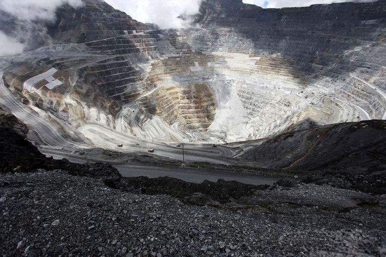 De Grasberg-koper- en-goud-mijn van Freeport in Indonesië. Beeld REUTERS