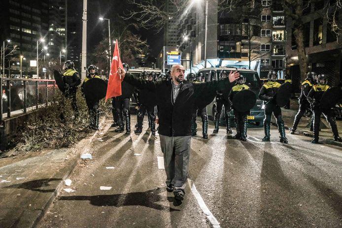 De uit de hand gelopen demonstratie in Rotterdam.