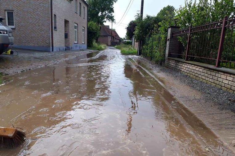 Heel wat straten bleven achter zoals de Potaardestraat in Aaigem.