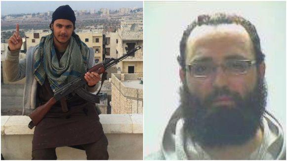 Yassine Cheikhi (links) zat in de entourage van de Molenbeekse aanslagenplanner Abaaoud. Mohamed Botachbaqut (rechts) liet op toetredings-fiche IS noteren dat hij een rol als zelfmoordterrorist wilde.