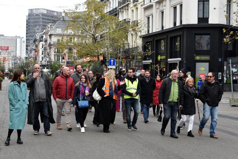 Aan de mars voor de slachtoffers van de rellen namen slechts 30 mensen deel.