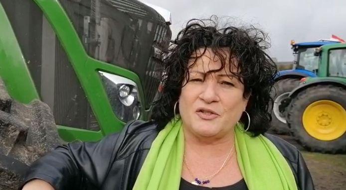 Een still uit een video die Caroline van der Plas op 1 oktober opnam tijdens de boerenprotesten op het Malieveld in Den Haag.