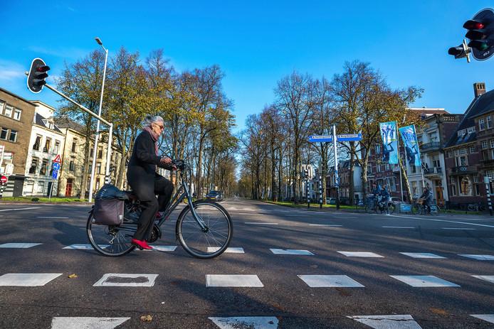 Maliebaan in Utrecht en het bewuste kruispunt Nachtegaalstraat en Burgemeester Reigerstraat.