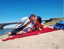 Nigel Sean en zijn vriendin Puck Mols.