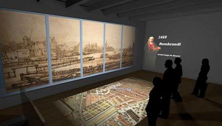 Een visuele weergave van hoe de attractie er komende zomer uit komt te zien Beeld Hermitage