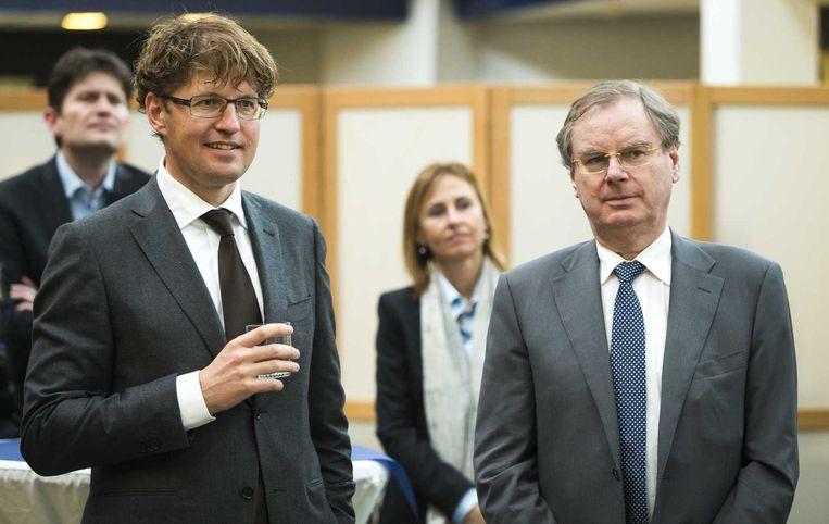 Staatssecretaris van Onderwijs Sander Dekker en Bernard Wientjes. Wientjes: accountants moeten vertrouwen wekken. Beeld ANP