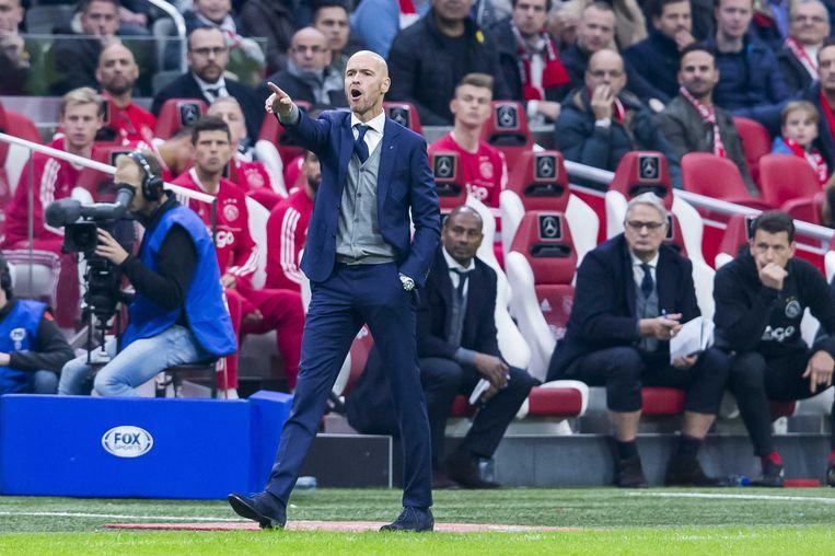 FC Utrecht kent moeilijke weken, deze overwinning zal trainer Erik ten Hag goed doen. Beeld anp