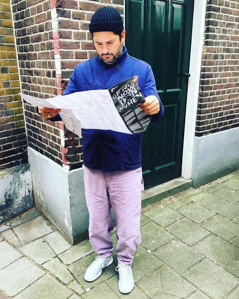 Julien Rademaker op de Dutch Design Week. Beeld Julien Rademaker