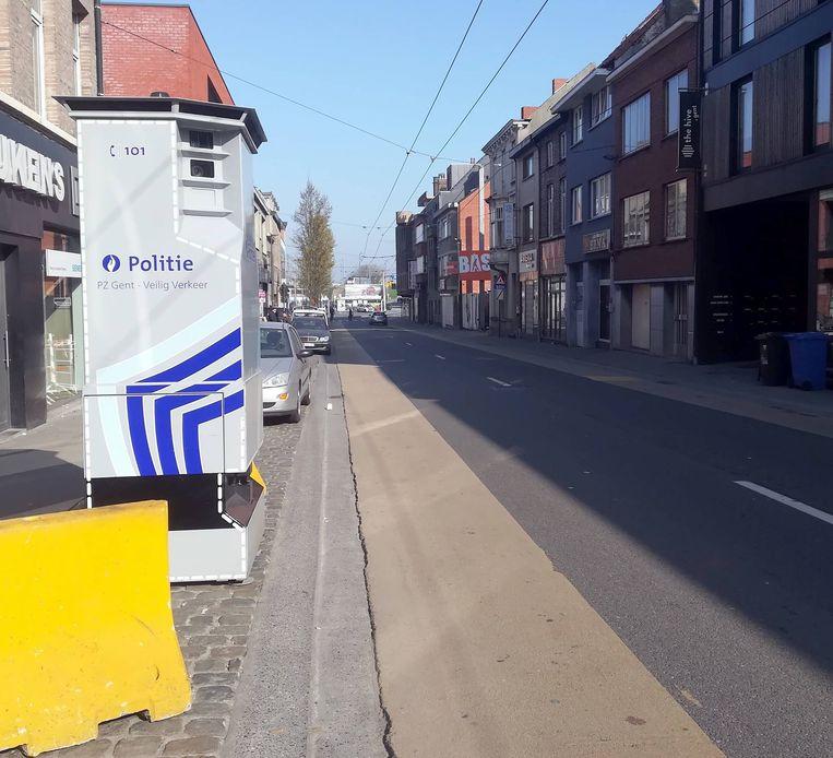 De Lidar verhuist voor een week naar de Dendermondsesteenweg.