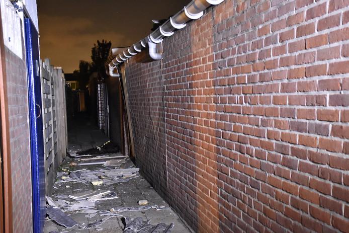 De explosie in de schuur aan de Van Brachtstraat in Pijnacker zorgde voor forse schade
