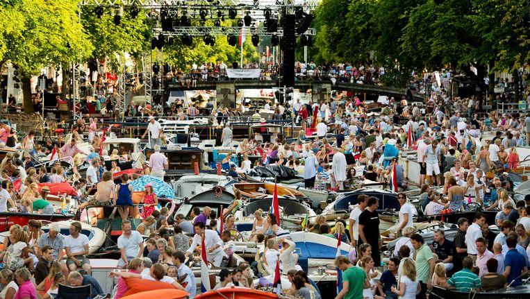 Een hoogtepunt van het Grachtenfestival is uiteraard het Prinsengrachtconcert. Beeld anp