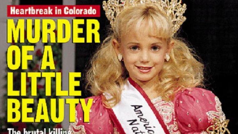 De voorpagina van People in januari 1997. De moord op de jonge schoonheidskoningin Jonbenet Ramsey schokte de VS. Beeld .