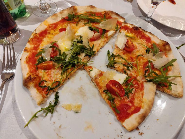 De pizza: oké, en niet meer dan dat.