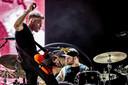 Het Britse muziekduo Royal Blood met bassist en zanger Mike Kerr en drummer Ben Thatcher treedt op tijdens de eerste dag van de 27e editie van muziekfestival A Campingflight to Lowlands Paradise.