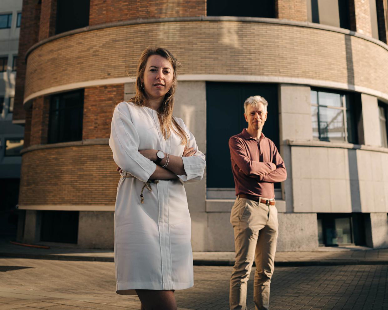 Aline Muylaert en Geert Noels.