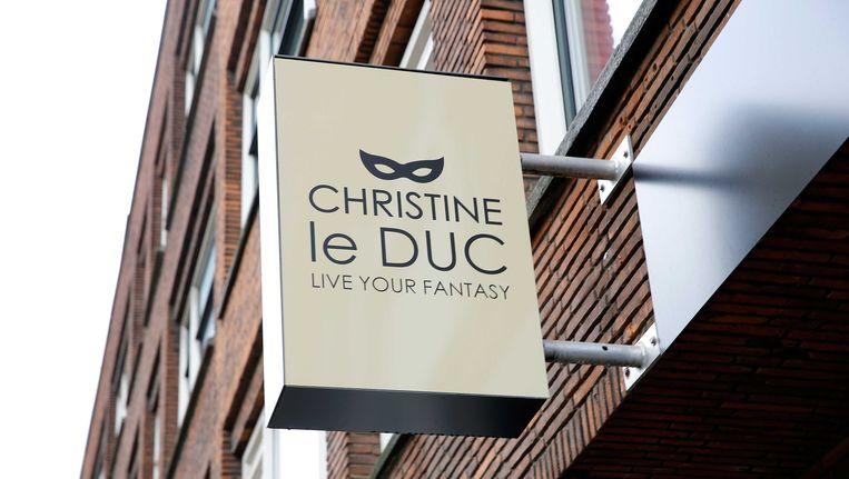 Het uithangbord van Christine le Duc bij een vestiging in Rotterdam. Beeld ANP