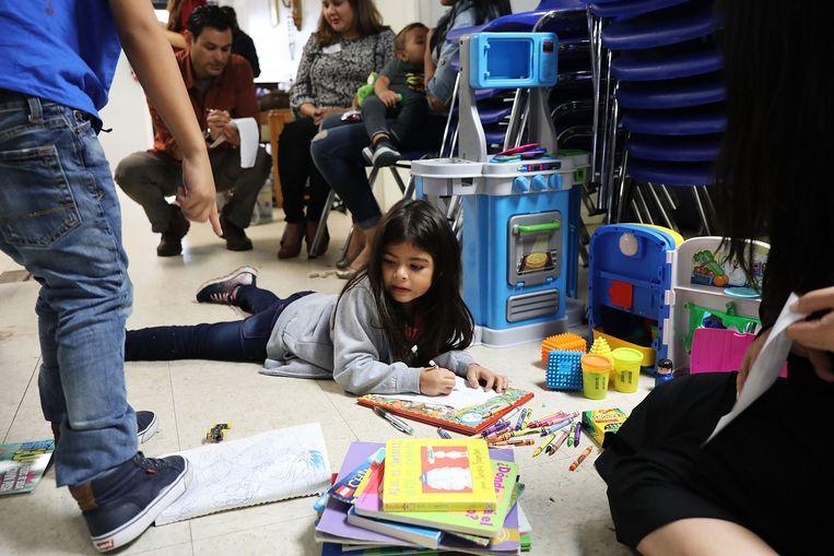Migrantenkinderen in een opvangcentrum in McAllen, Texas.