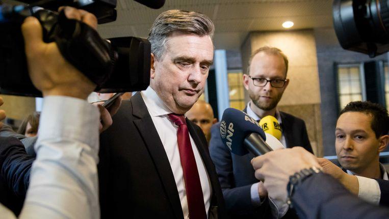 SP-voorman Emile Roemer reageert in de Tweede Kamer over de kritiek op zijn optreden. Beeld ANP