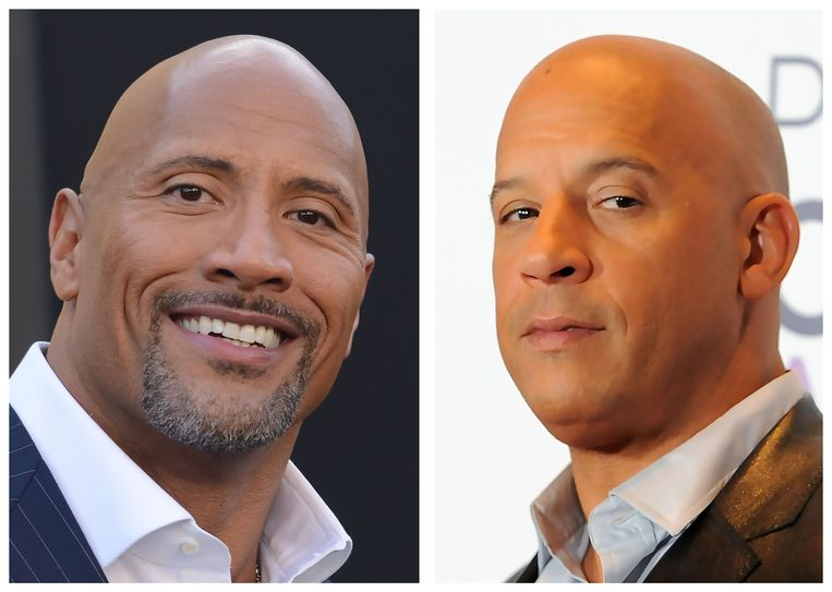 "Dwayne ""The Rock"" Johnson en Vin Diesel."