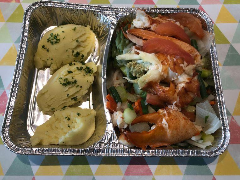 Kreeft met groentjes en aardappelpuree van Bistro R.