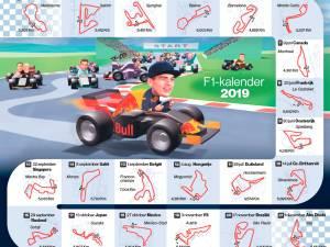 Hoe ziet de Formule 1-kalender er uit?