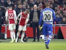 Trainers Ten Hag en De Jong genieten van Ajax