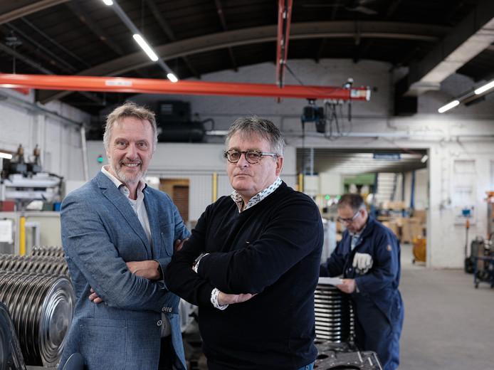 Frans Mul (links) en Harrie Garritsen van de Winterswijkse Uitdaging.