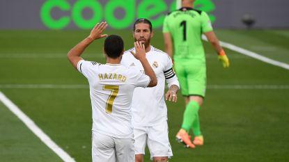 Hij is terug: Eden Hazard heeft voet in twee Real-goals tegen Eibar, ook Courtois laat zich zien met klassesave