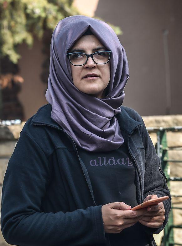 Hatice Cengiz, de Turkse verloofde van de vermoorde journalist.