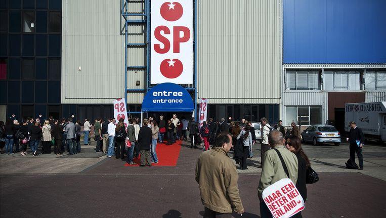 Bezoekers van het SP-congres in 2010. Beeld null