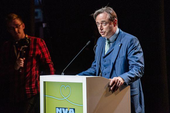 Bart De Wever aan het woord.