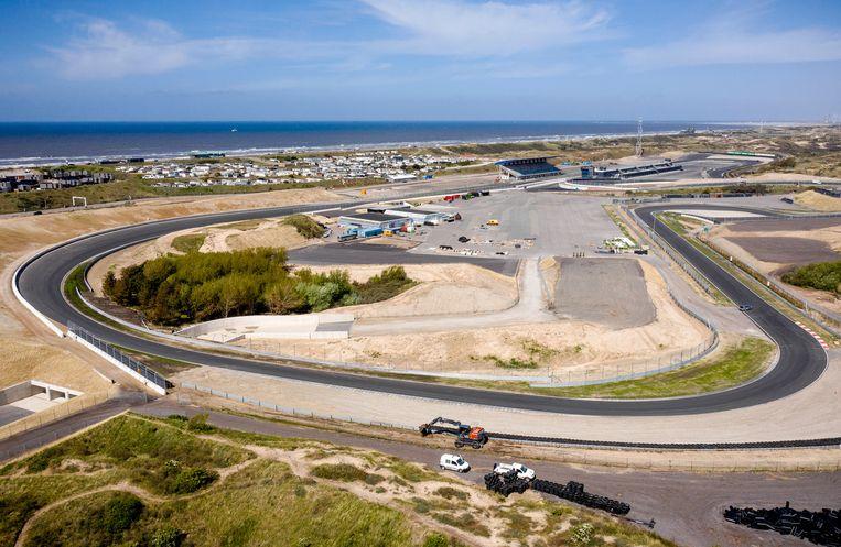 Een dronefoto van het circuit van Zandvoort. Beeld ANP
